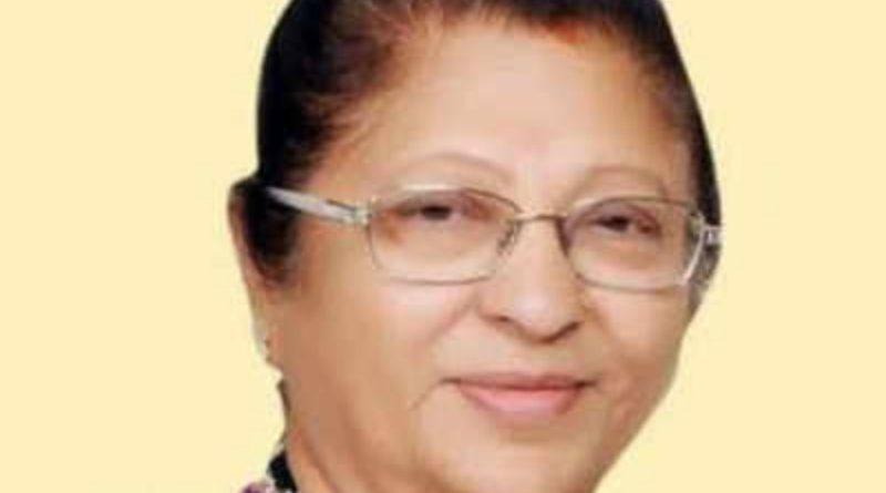 सम्मानित महिला पूर्व विधायक ज्योति कालानी का निधन